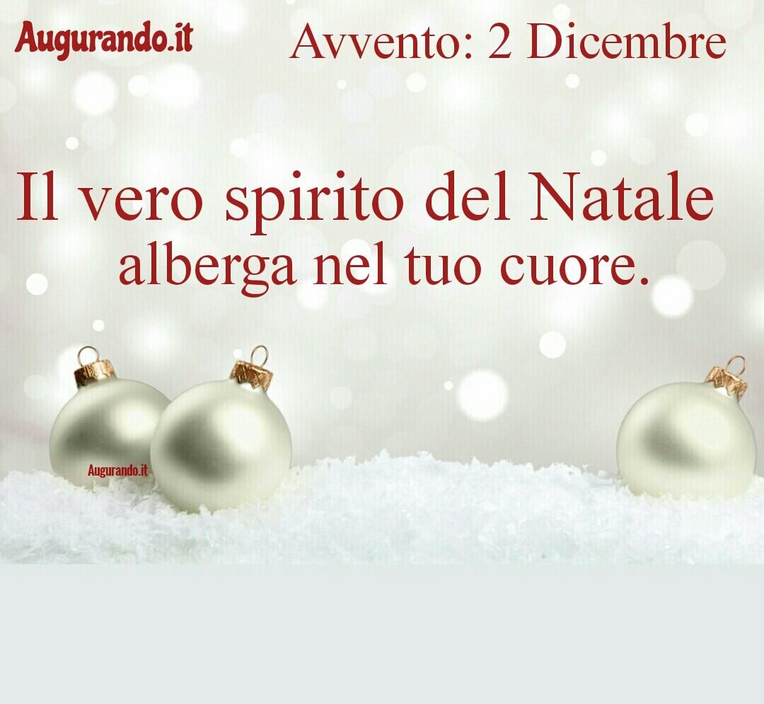 Giorno calendario Avvento 2 Dicembre