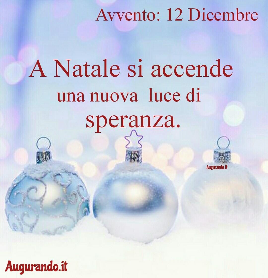 Giorno calendario Avvento 12 Dicembre