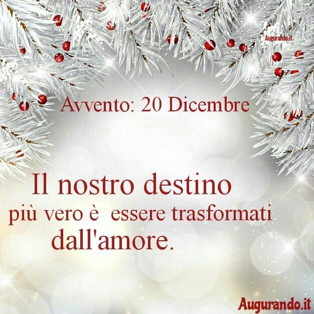 Giorno calendario Avvento 20 Dicembre