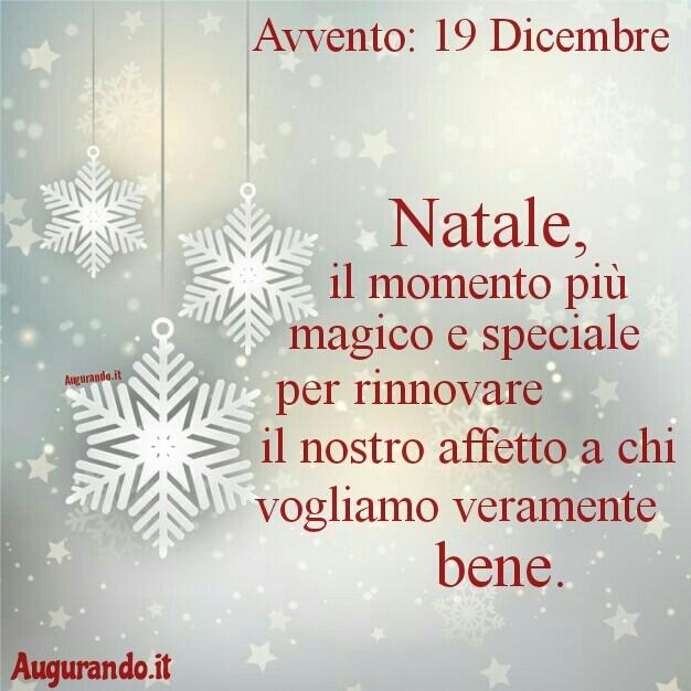 Giorno calendario Avvento 19 Dicembre