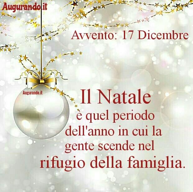 Giorno calendario Avvento 17 Dicembre