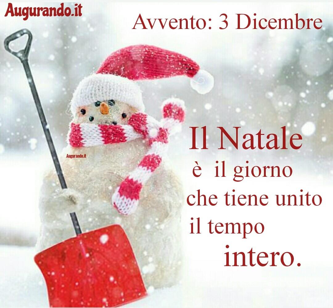 Giorno calendario Avvento 3 Dicembre