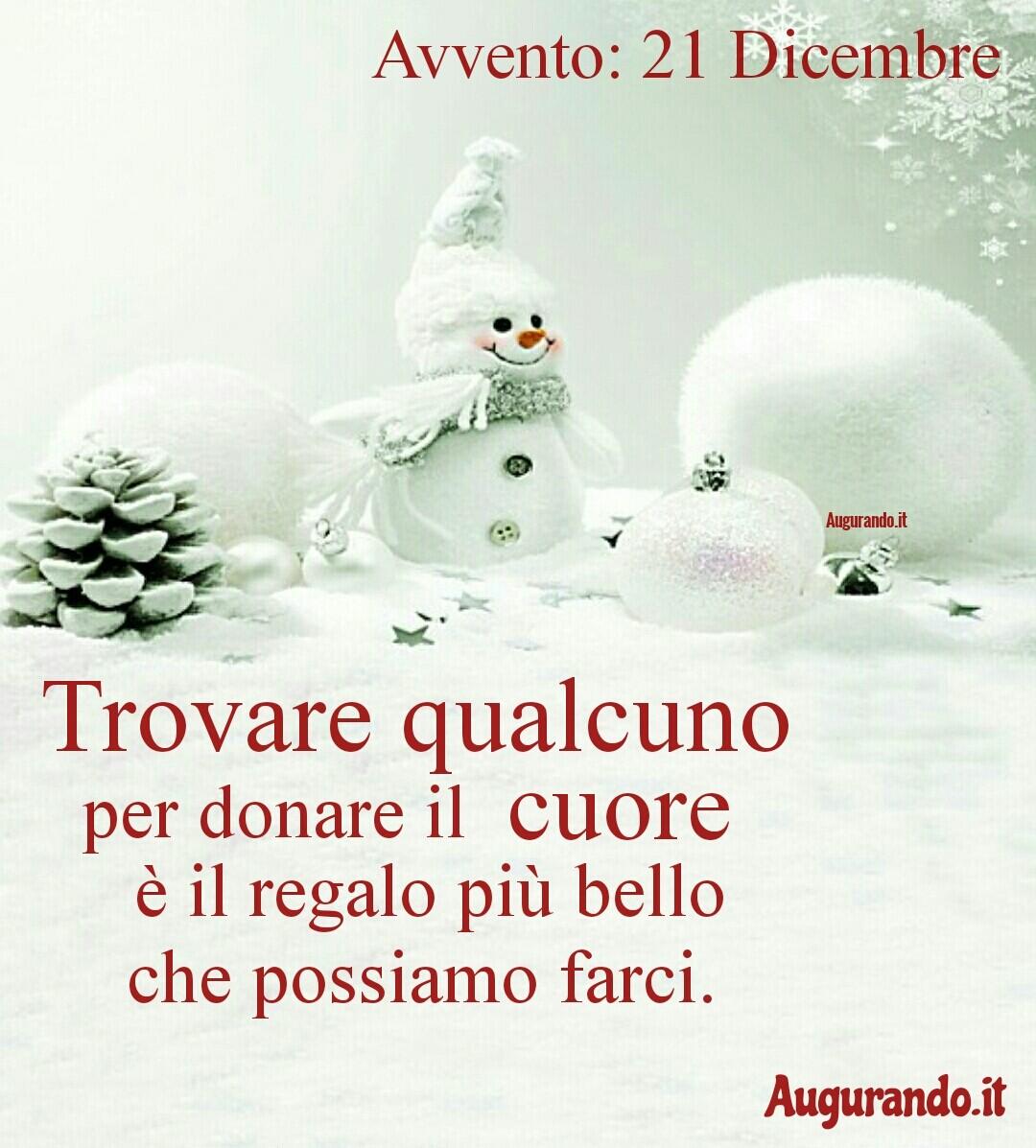 Giorno calendario Avvento 21 Dicembre