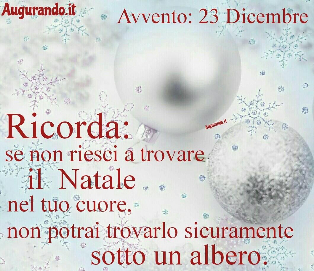 Calendario giorno dell'avvento 23 Dicembre