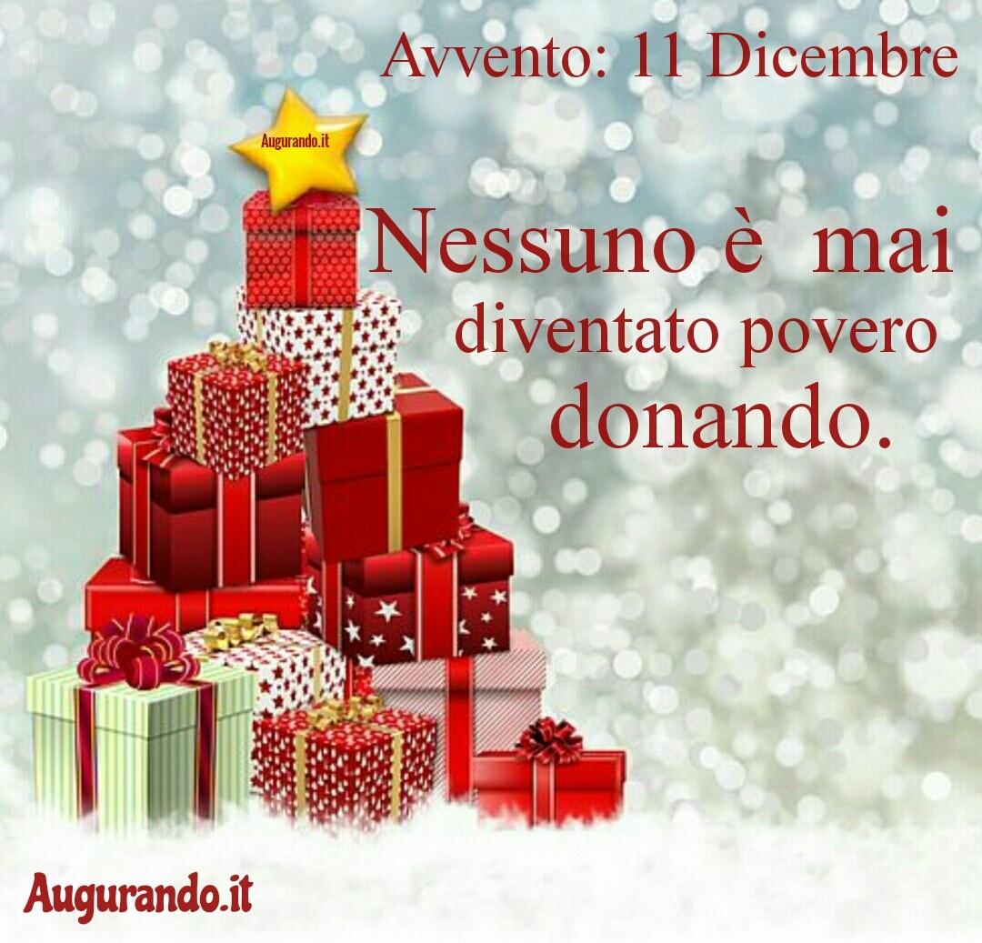 Giorno calendario Avvento 11 Dicembre