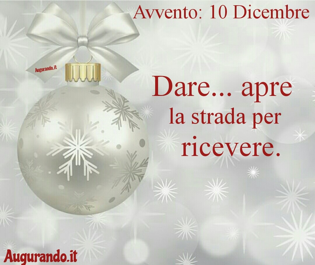 Giorno calendario Avvento 10 Dicembre