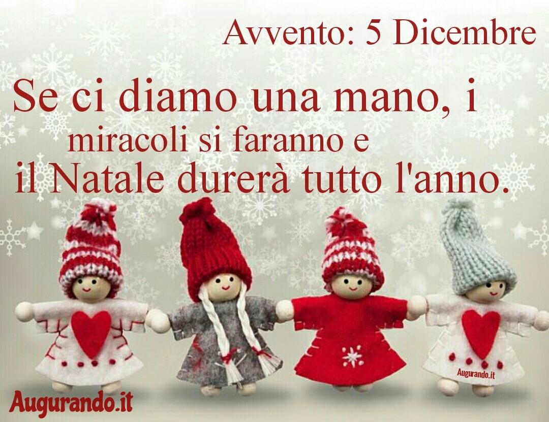 Giorno calendario Avvento 5 Dicembre